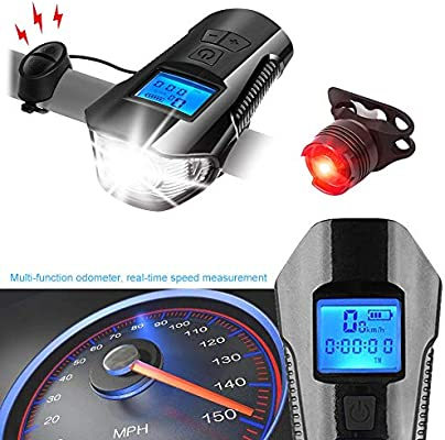 Daskoo Super Brillante Faro Impermeable para LED Bicicleta con ...