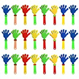 Allure Maek 24 Pieces Plastic Hand Clappers Noise Makers Noisemaker Game Accessories for Fiesta Party Birthday Favors and Supplies, 7.5 Inch