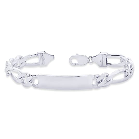 Taraash Figaro ID 925 Sterling Silver Bracelet For Men BR0542S Bracelets at amazon