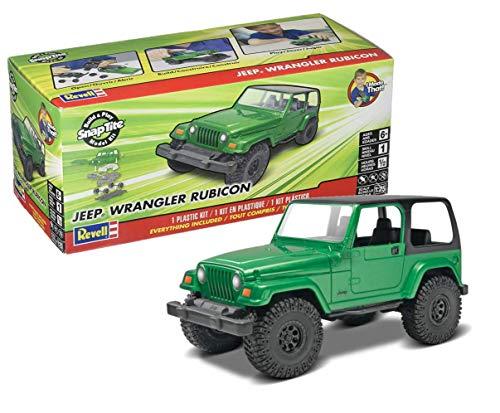 Revell SnapTite Build & Play 04 Jeep Wrangler Rubicon Model Kit (Jeep Wrangler Model Kit)