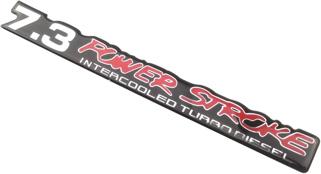 2 Pack 7.3 PowerStroke Intercooled Turbo Diesel Super Duty Decal sticker Truck Emblems Chrome Black