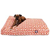 Orange Aruba Extra Large Rectangle Indoor Outdoor Pet Dog Bed With Removable Washable Cover By Majestic Pet Products
