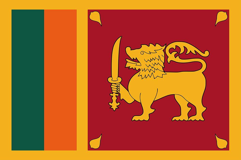 【T-ポイント5倍】 世界の国旗 スリランカ 国旗 [120×180cm 国旗 B0090ZYU3O 高級テトロン製] B0090ZYU3O, あや(フラワーギフト&ブーケ):2211af24 --- vietnox.com