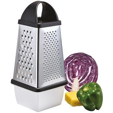 Rallador con recipiente acero inoxidable Rallador de cocina ...