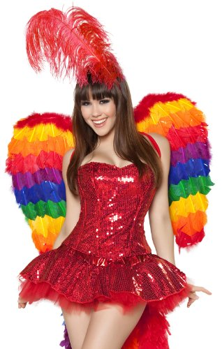 [Parrot Playmate Costume - Small - Dress Size 4] (Parrot Costume Wings)
