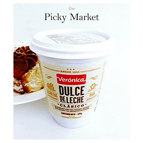 DULCE de LECHE VERONICA milk CARAMEL spread. ARGENTINA Dessert to die for. 400 gr, 14.5 oz.