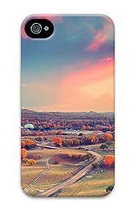 iPhone 4 4S Case Autumn Sunset Clouds 3D Custom iPhone 4 4S Case Cover