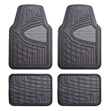 Automotive : FH Group F11311GRAYBLACK Rubber Floor Mat (Heavy Duty Tall Channel)
