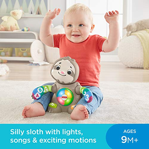 51i457FMsZL - Fisher-Price Linkimals Smooth Moves Sloth - Interactive Educational Toy with Music, Lights, and Motion for Baby Ages 9 Months & Up