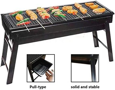 JiaJu Portable Barbecue à Charbon, Extérieur Acier Inoxydable Barbecue à Charbon de Table 5-8 Personnes