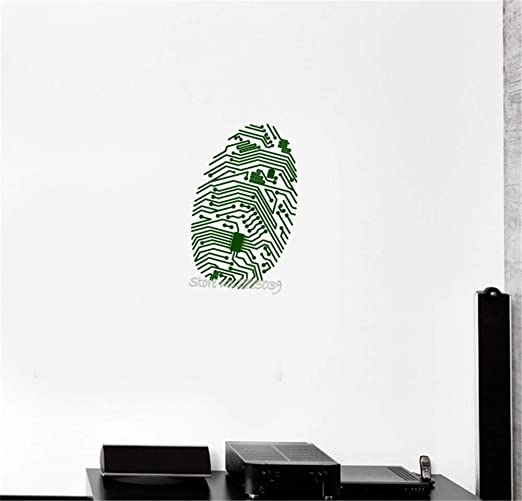 alicefen Huella Digital Chip Ordenador Vinilo Tatuajes de Pared ...