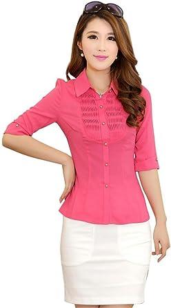 Somo Lite - Camisas - para mujer rojo Rosa Roja extra-large: Amazon.es: Ropa y accesorios