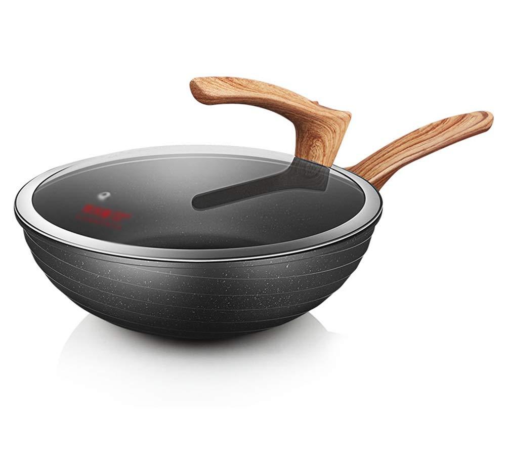 WYQSZ Wok - Non-stick wok household pot wok universal kitchen cooking durable multi-function wok -fry pan 2365 (Size : 329.2cm)