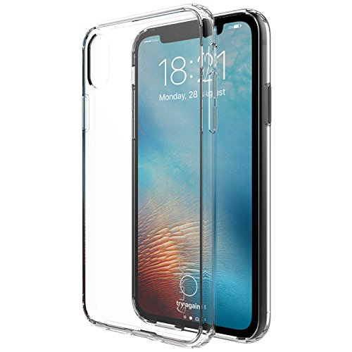 Luvvitt iPhone XS Case Clear View Cover with Shockproof Drop Protection Slim Soft Hybrid TPU Gel Bumper and Hard PC Scratch Resistant Back for 5.8