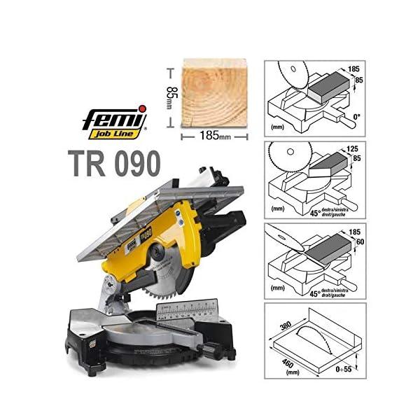 FEMI TR090 Ingletadora con/sin mesa superior, Amarillo