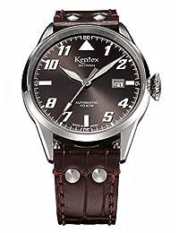 Kentex SKYMAN 6 Men's automatic pilot Brown Watch S688X-11