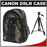 Canon 200EG Deluxe Digital SLR Camera Back Pack Case + Precision Design 57-inch Photo/Video Tripod for 7D, 5D, 60D, 50D, Rebel T3, T3i, T2i, T1i, XS Digital SLR Cameras, Lenses and Binoculars, Best Gadgets