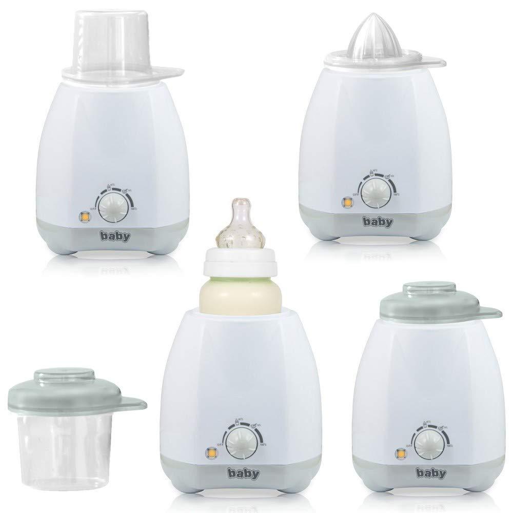 Elektrischer Babykostw/ärmer Flaschenw/ärmer f/ür Babyflaschen mit Thermostat und stufenloser Regelung grau