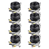 Masione 8 Pack 150ft Video Power Extension Cable Wire for CCTV DVR CCD Security Cameras Surveillance System with BNC to RCA Adaptor