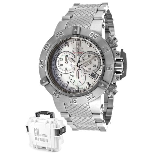 Invicta Women's 14598 Jason Taylor Stainless Steel Chronograph Swiss-Quartz Mother of Pearl Dial Watch