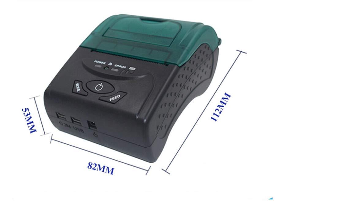 Amazon.com: Mini impresora de recibos térmica Bluetooth de ...