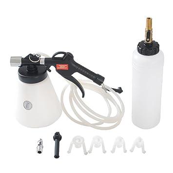 CCLIFE purgador frenos coche Dispositivo Botella de aire comprimido 1x Recipiente de llenado + 4x Piezas adaptadoras: Amazon.es: Coche y moto