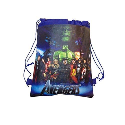 De Los Vengadores de Marvel de polietileno para el hombro bolsa con cordón para deportes mochila