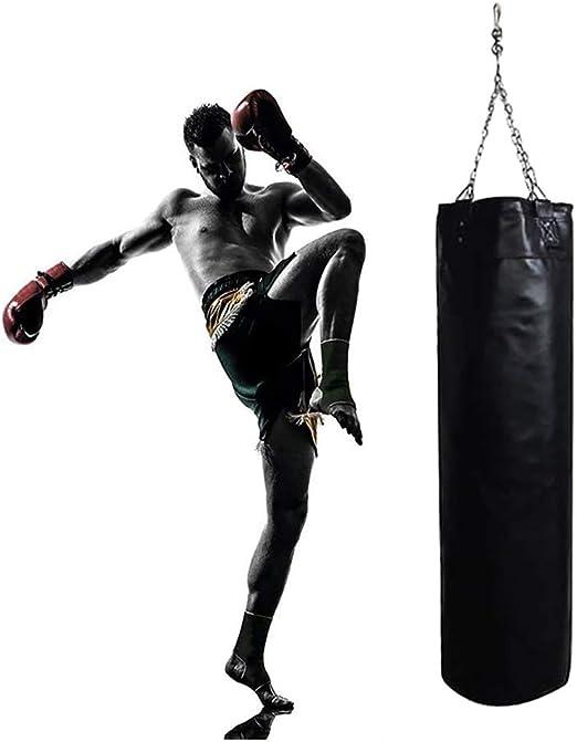 Heavy Boxing Punching Bag Training Gloves Kicking MMA Workout w//Hook Empty 120cm