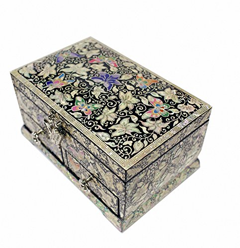 Mother of Pearl Butterfly Design Jewelry Box Nacre Artian Handcrafted Jewellry Case by JMcore High Quality Jewelry Box