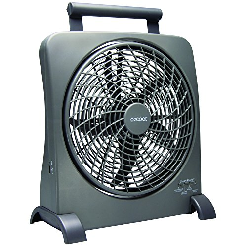 "O2COOL Portable Smart 10"" Powered Fan (Batteries Included)"