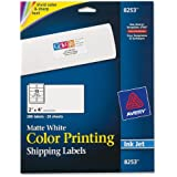 Avery Matte White Color Inkjet Printing Labels (8253)