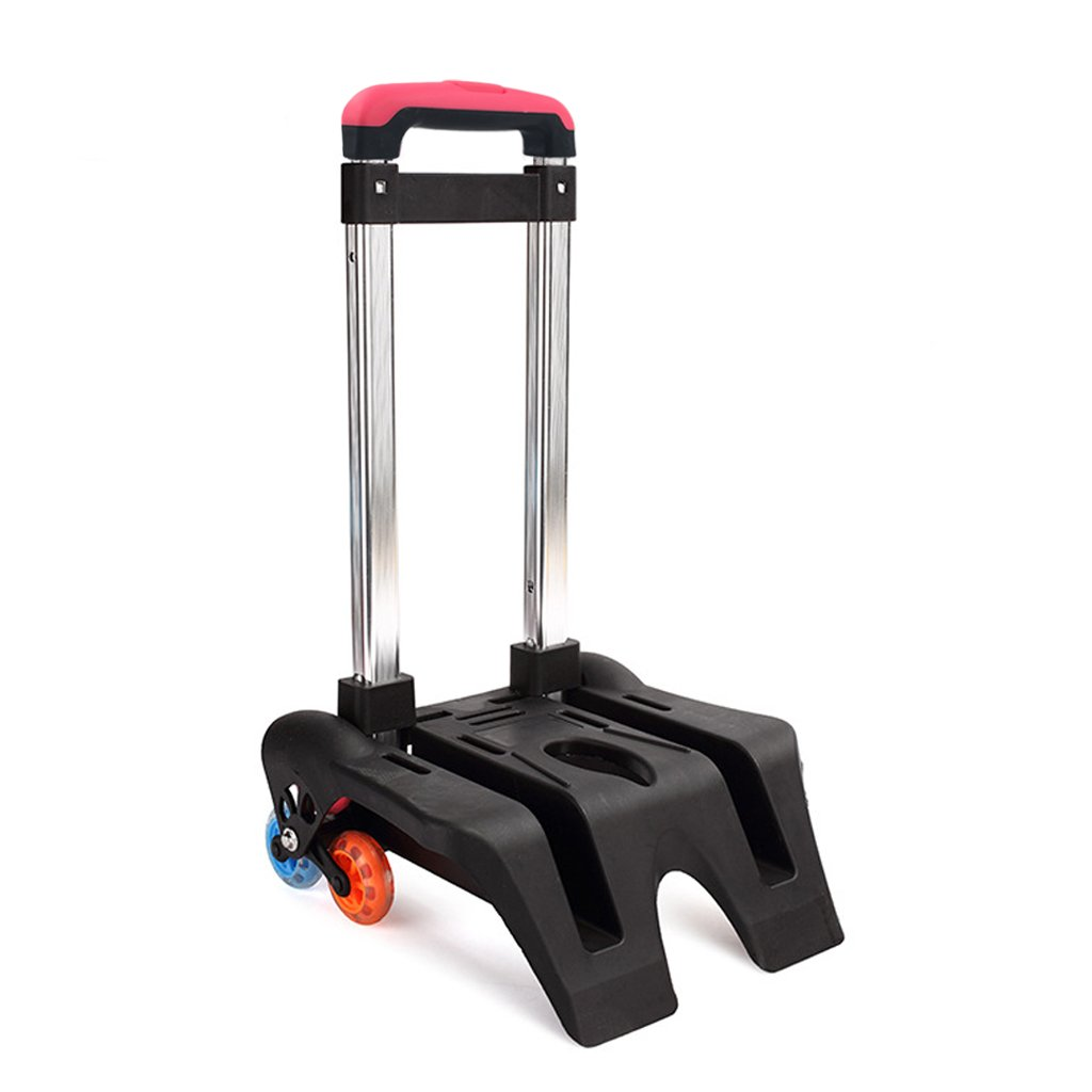 GudeHome Trolley Hand Aluminium Alloy Folding Wheeled Trolley Cart for Backpack (Colorful, 6 Wheels) by GudeHome