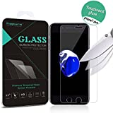 iPhone 7 Plus Screen Protector, Hapurs iPhone 7 Plus Tempered Glass Screen Protector, High Definition Shockproof Anti-Bubble Screen Film for iphone 7 plus