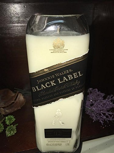 Walker Whisky Johnnie (JOHNNIE WALKER Black Label Whisky Soy Candle I Recycled- Pomegranate Scented)
