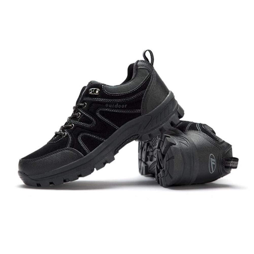 FH Wanderschuhe Langlaufschuhe Herren Outdoorschuhe Rutschfest Verschleißfest Wandern Low-Top-Schuhe (Farbe   (Farbe  Schwarz, Größe   EU43 UK9 CN44) 8a091c