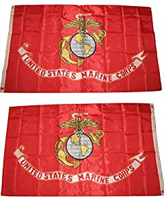 3x 5USMC Marines infantería de marina de sello escudo emblema Ega Eagle globo Anchor bandera doble cara bandera de Nylon 3'x5' casa Banner arandelas resistente a la decoloración Premium calidad