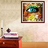 Allywit Diamond Painting, 5D Diamond Painting Kit - Creative Eyes - Diamond Painting Arts Craft for Home Wall Decor Gift DIY Painting by Diamonds
