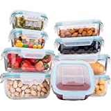 Glass Food Storage Containers with Lids, [18 Piece] Glass Meal Prep Containers, Airtight Glass Bento Box Lunch Containers, BPA Free & FDA Approved & Leak Proof (9 lids & 9 Containers)