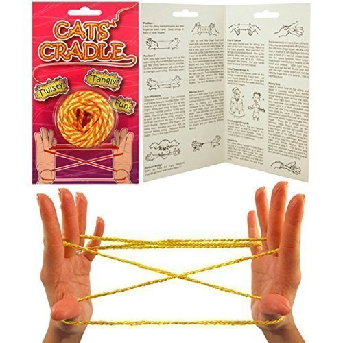 Cradle Game (The Home Fusion Company Cats Cradle Retro Toy Game Classic Fumble Finger String Game Party Bag Filler)