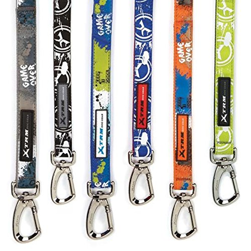 Casual Canine Xtreme Game Over Lead, 6-Feet by 1-Inch, Blue