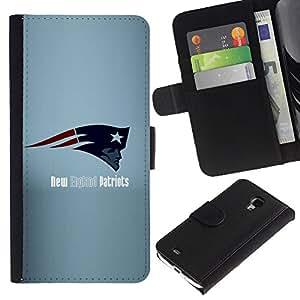 Nueva Inglaterra Fútbol - la tarjeta de Crédito Slots PU Funda de cuero Monedero caso cubierta de piel Para Samsung Galaxy S4 Mini i9190 (NOT S4)