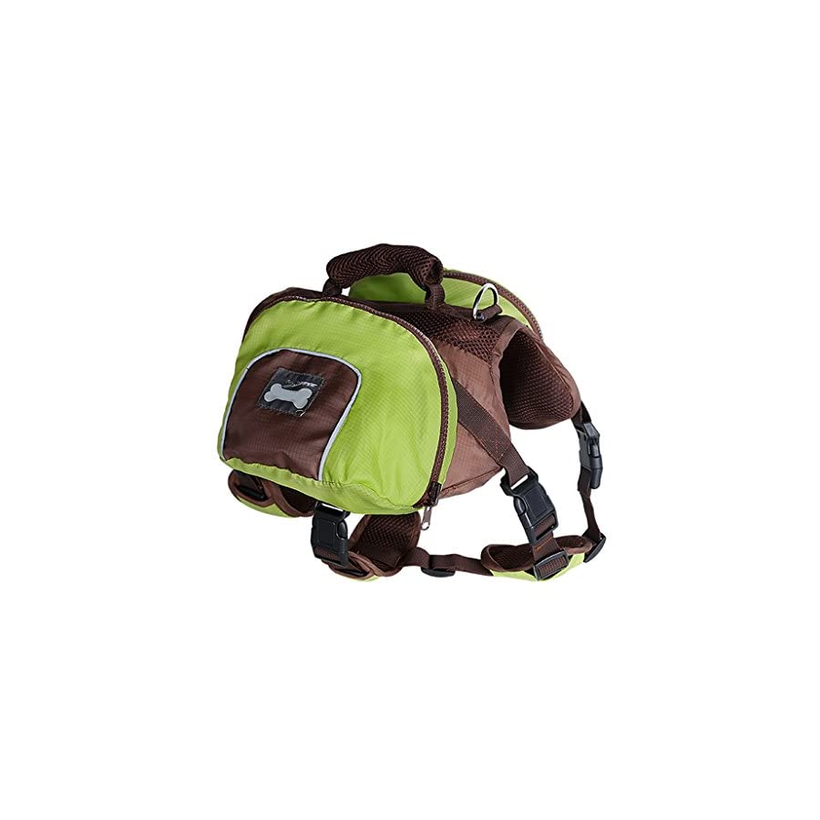 MagiDeal Dog Foldable Backpack Waterproof Portable Travel Outdoor Bag Pack Green M