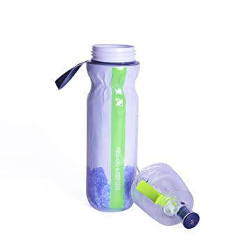 Botella de agua en aerosol para agua o niebla, portátil, 500 ml, doble