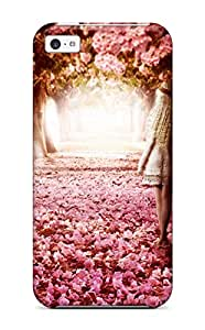 New Style Excellent Design Flower Path Case Cover For Iphone 5c