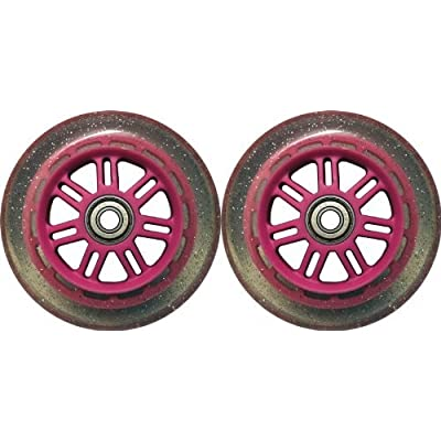 TGM Skateboards 100mm 88a Replacement Wheels 2 Pack for Razor Kick Scooter Glitter/Pink : Sports & Outdoors