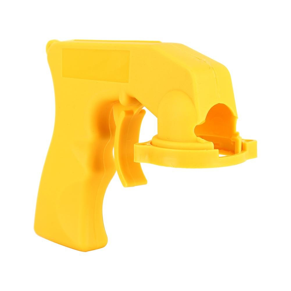 Akozon Maniglia per pistola a spruzzo di vernice Adattatore per impugnatura universale per aerosol spray con grilletto Strumento di riparazione di manutenzione auto Giallo