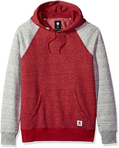 Element Men's Meridian Block Pullover Hoody, Red Dahlia, - Red Element