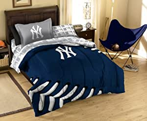 Amazon.com : MLB New York Yankees Twin Bedding Set ...