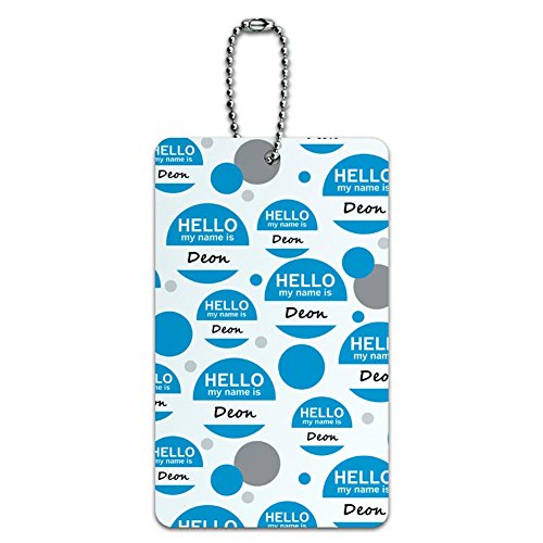Luggage Card Suitcase Carry-On ID Tag - Hello My Name Is De-Dy - Deon Hello My Name Is