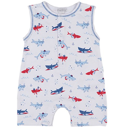 Kissy Kissy Baby Boys Sea Shenanigans Print Slvlss Short Playsuit
